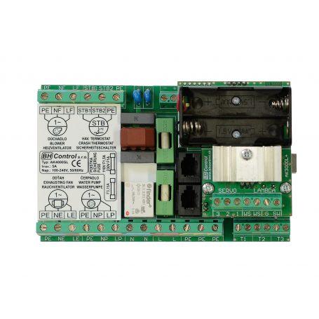 Carte électronique pour chaudiere inversée à buche de bois HVS Solarbayer