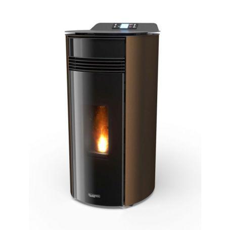 Poele a granule canalisable prix rond air glass Jessica 9 bronze laminox