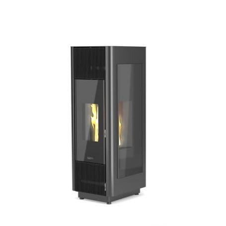 Poele a granule sans electricite silencieux flamme verte laminox Phénix 7
