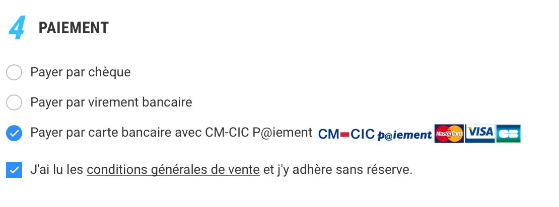 Payer par carte bancaire avec CM-CIC P@iement
