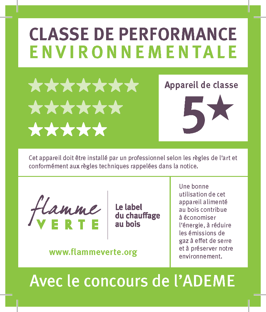 Label flamme verte 5 étoiles - Chauffage Economique