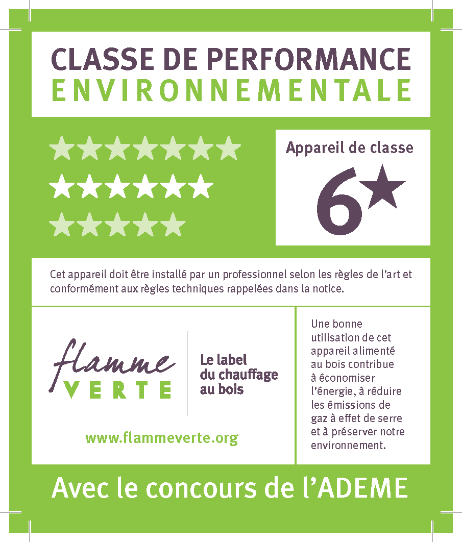 Label flamme verte 6 étoiles - Chauffage Economique